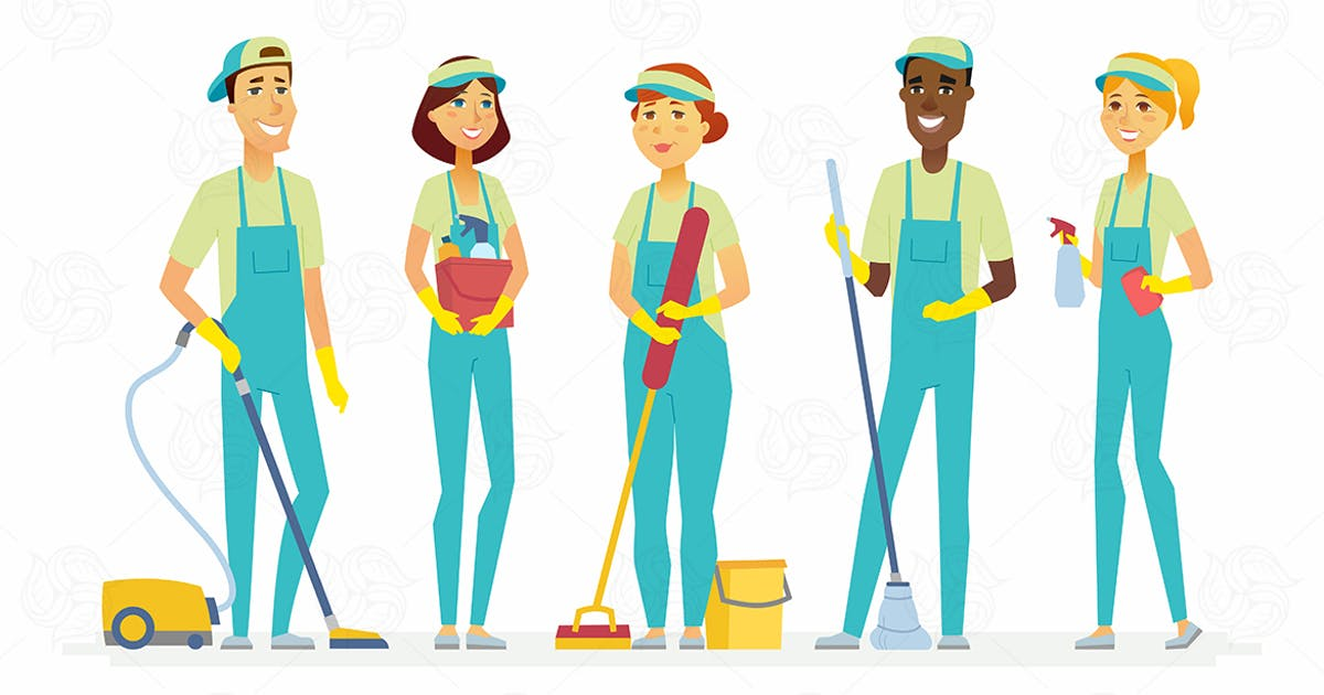 Download Cleaning staff - isolated illustration by BoykoPictures
