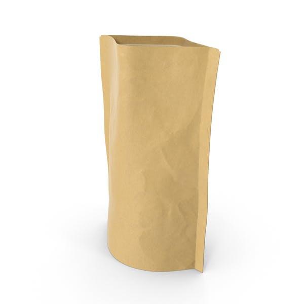 Thumbnail for Bolsa con cremallera de pie, 100 g, abierta.