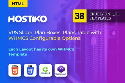 Hostiko - Hosting HTML & WHMCS Template With Isome