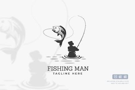 Fisherman - Logo EntwurfsVorlage