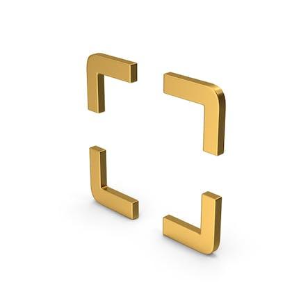 Symbol Fullscreen Gold