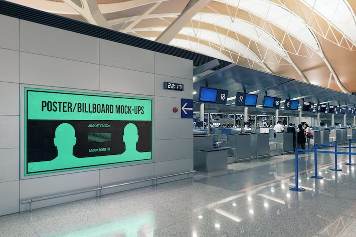Thumbnail for Poster / Billboard Mock-ups - Airport Edition #6