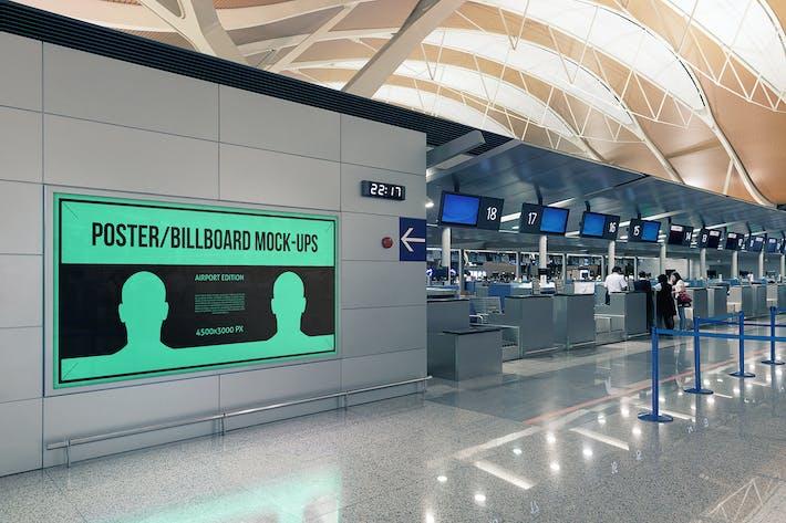 Poster / Billboard Mock-ups - Airport Edition #6