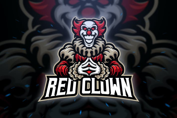 Cover Image For Red Clown Sport and Esport Logo Template
