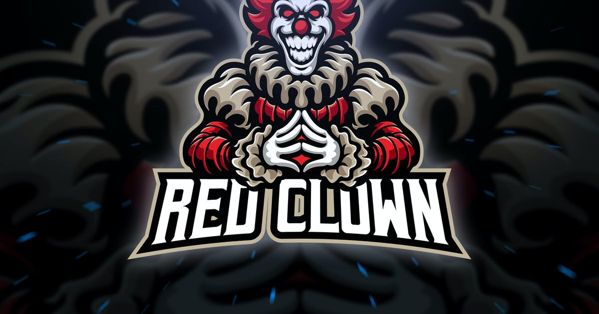 Download Red Clown Sport and Esport Logo Template by Blankids