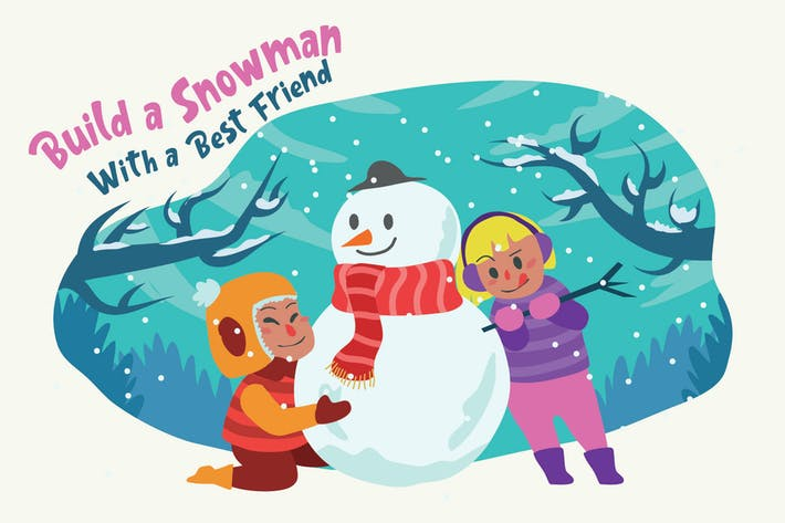 Thumbnail for Build Snowman - Vector Illustration