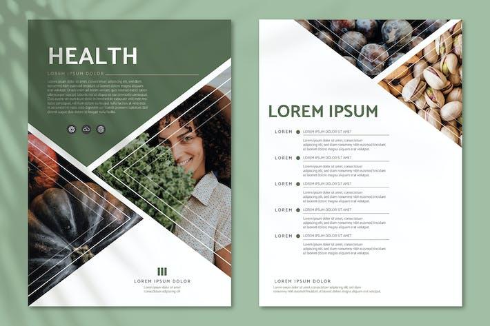 Health poster editable design template