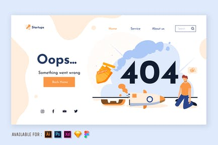 404 Page Error - Web Illustration