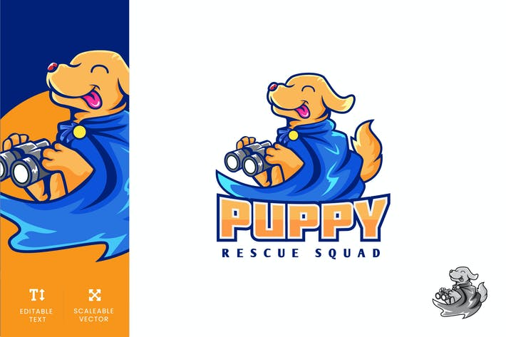 Thumbnail for Puppy Animal Rescue Logo Illustration Vector