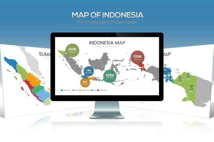 Thumbnail for Map of Indonesia for Powerpoint