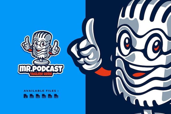 Thumbnail for Mr. Podcast Cartoon Logo