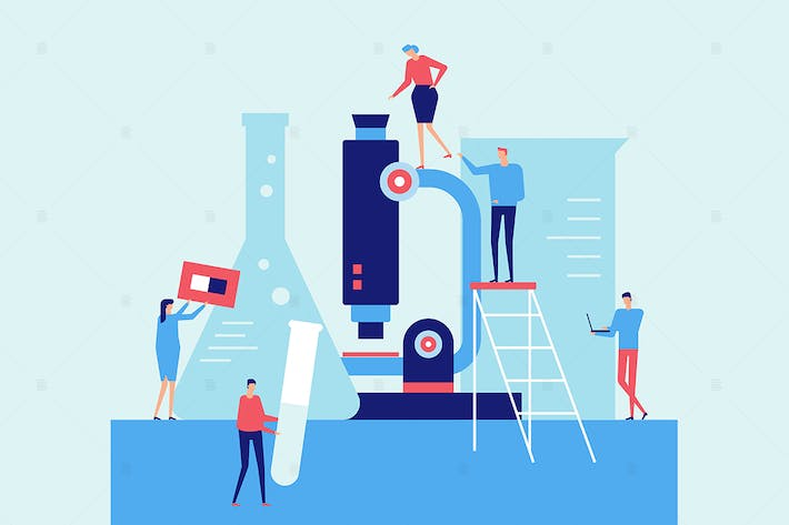 Thumbnail for Laboratory - flat design style illustration