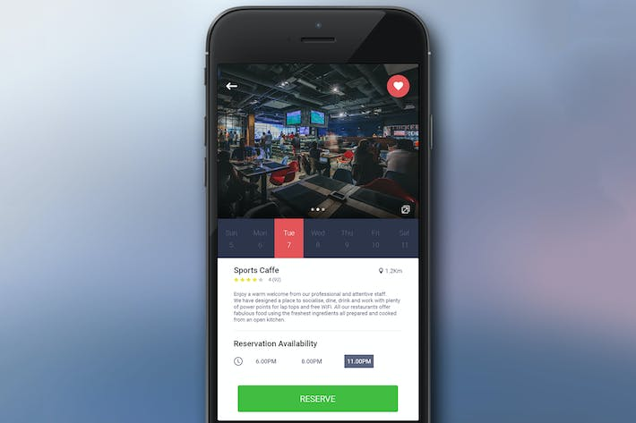 Thumbnail for Reservation App Screen