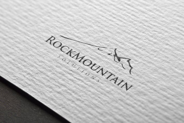 Cover Image For Rock Mountain Logo Template