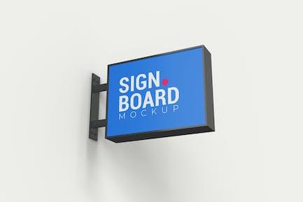 Building Signboard Mockup