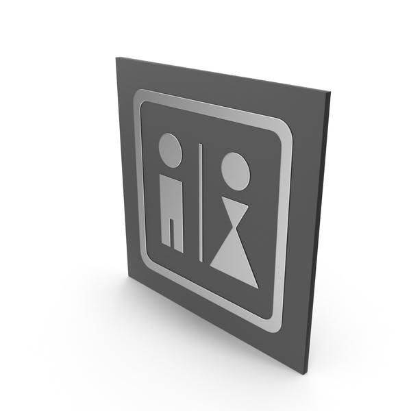 Badezimmer-Schild