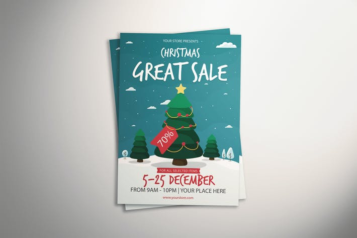 Thumbnail for Christmas Great Sale Flyer