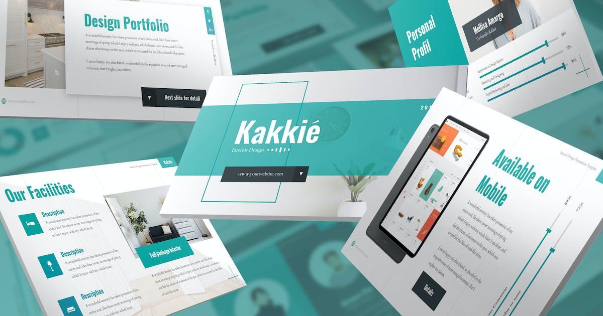 Download Kakkie - Interior Design Keynote Template by SlideFactory