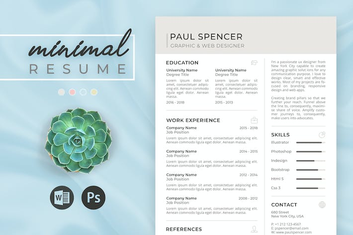 Thumbnail for Minimal Resume