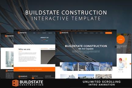 Interaktive Vorlage für Buildstate Construction