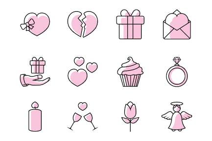 Valentinstag - Icons -Paket