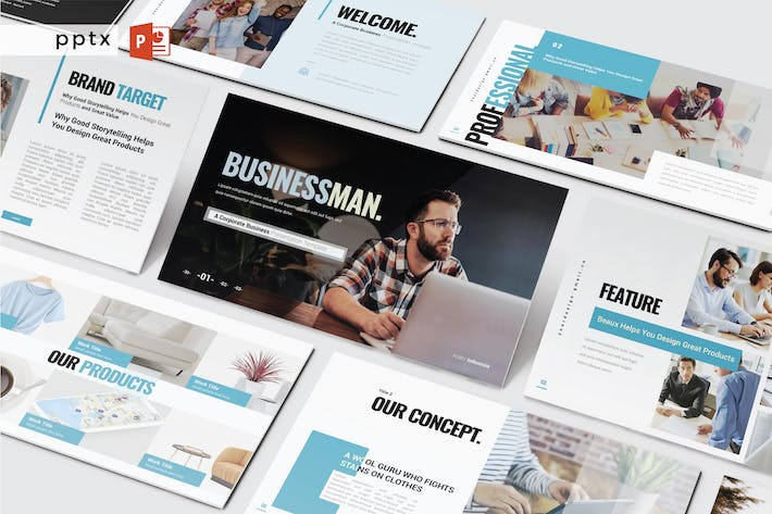 Thumbnail for BUSINESSMAN - Powerpoint V473