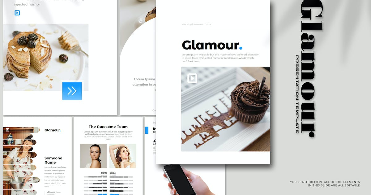 Download Glamour - A4 Powerpoint Template by Artmonk
