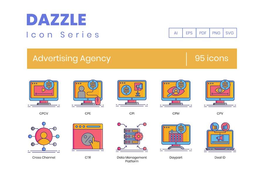 95 Line Icons der WerbeAgentur