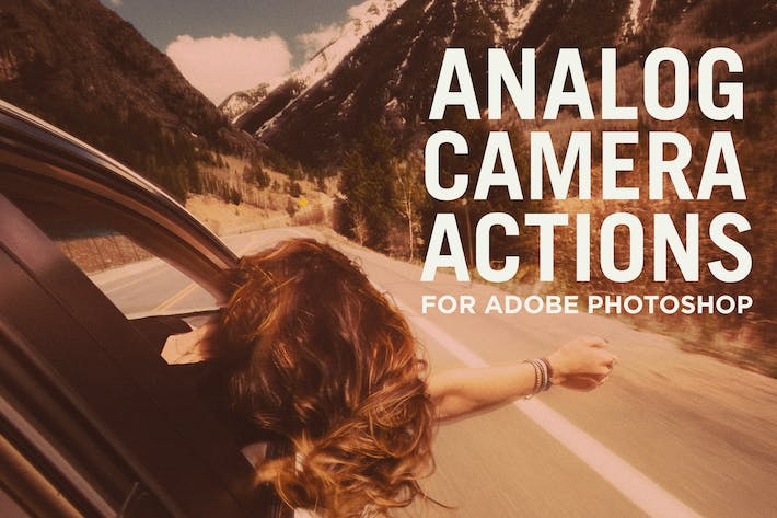 Thumbnail for Analog Camera Actions for Adobe Photoshop