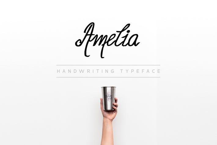 Thumbnail for Amelia - Beautiful Handwriting / Calligraphy Font