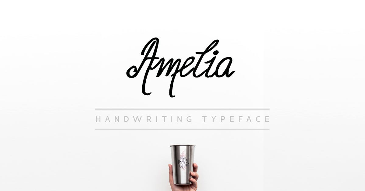 Download Amelia - Beautiful Handwriting / Calligraphy Font by designova