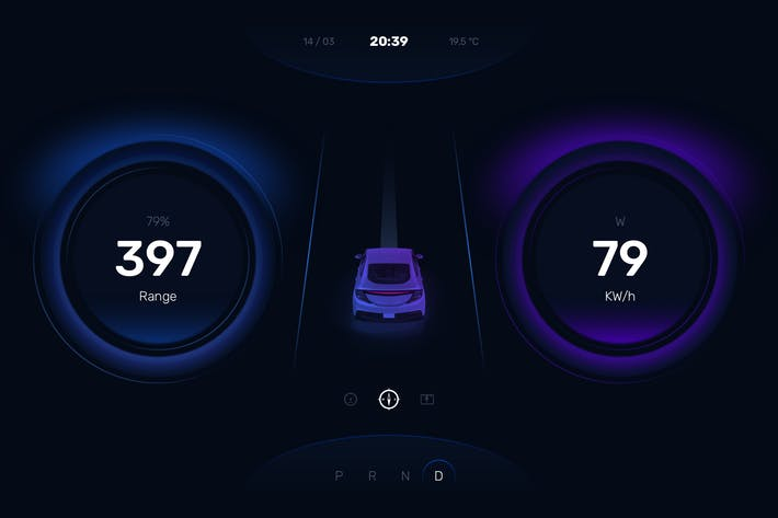 Thumbnail for Car Instrument Cluster Dashboard UI Template