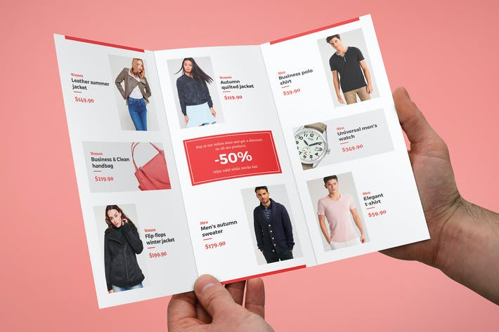 Thumbnail for Brochure – Fashion Look Book Tri-Fold
