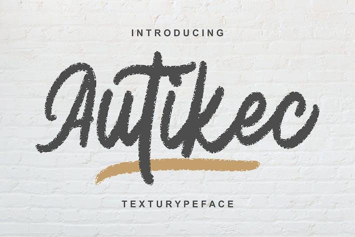 Thumbnail for Autiec Texturype Face Font