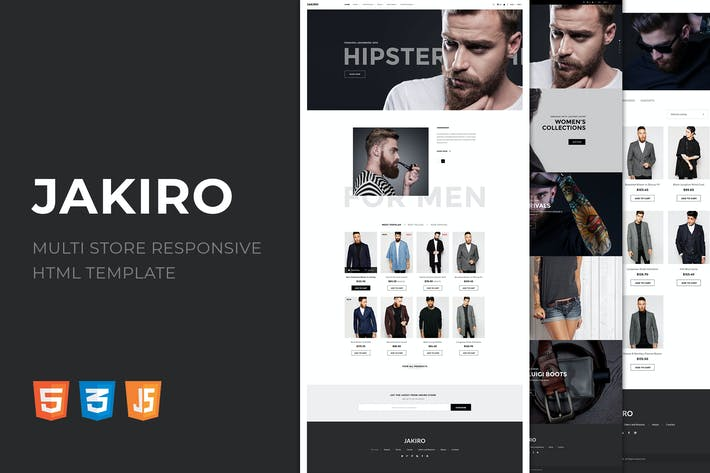 Cover Image For Jakiro | Multi Store Responsive HTML Template