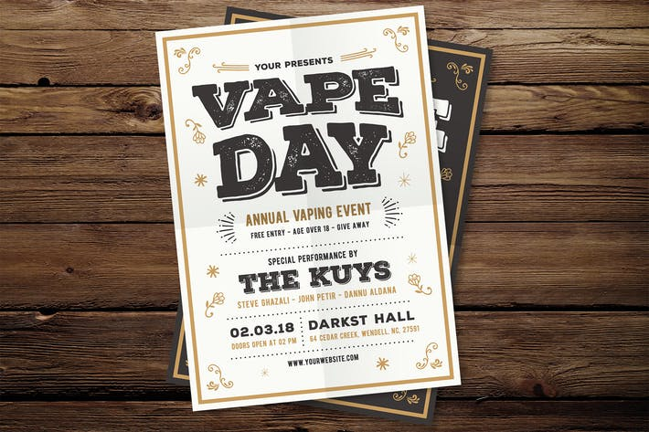 Cover Image For Vape Vintage Flyer