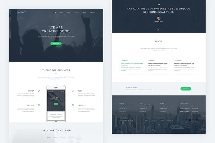 Thumbnail for MultiUp — Business PSD Template