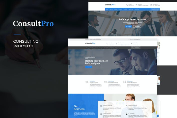 Thumbnail for ConsultPro : Consultancy PSD Template
