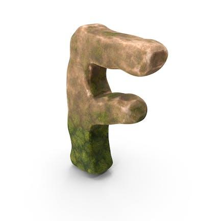 F Letter Mossy Rock