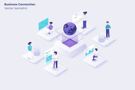 Business Connection - Vector Illustration