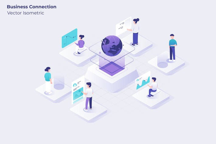 Thumbnail for Business Connection - Vector Illustration
