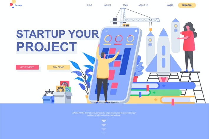 Thumbnail for Business Startup Landing Page Template