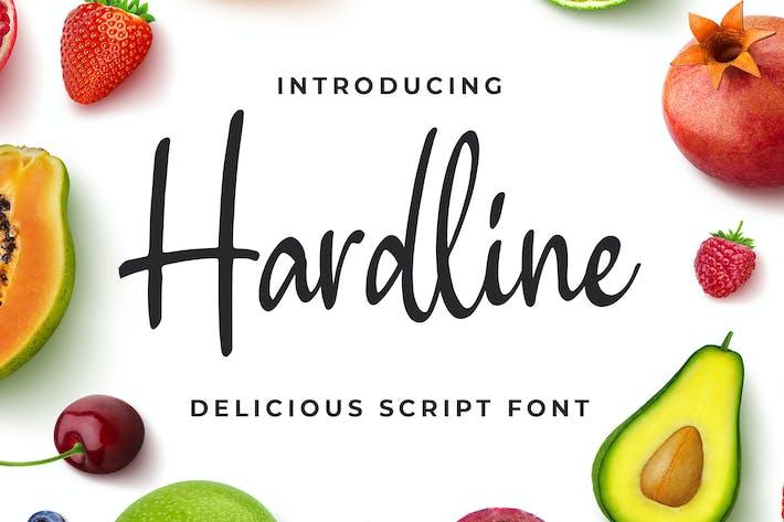 Thumbnail for Hardline - Police de script délicieuse