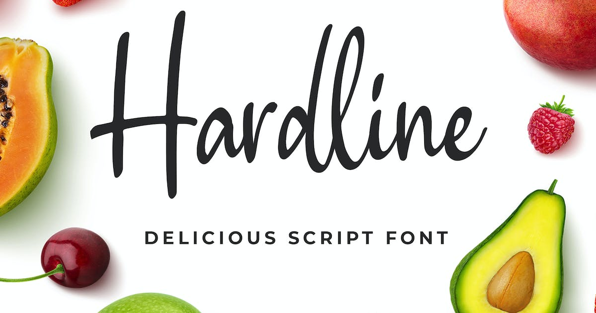Download Hardline - Delicious Script Font by Blankids