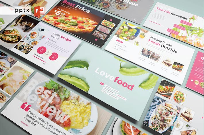 Cover Image For LOVEFOOD - Powerpoint V272