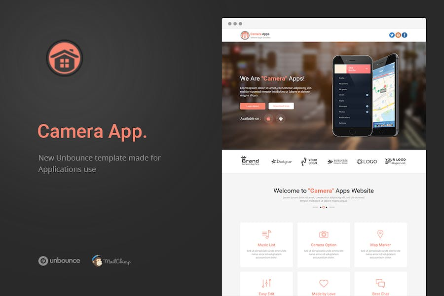 Camera Apps - Unbounce Landing Page