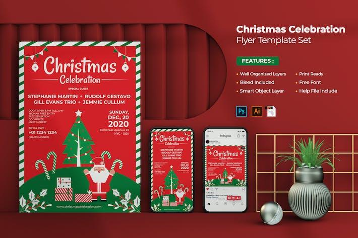 Thumbnail for Christmas Celebration Flyer Set