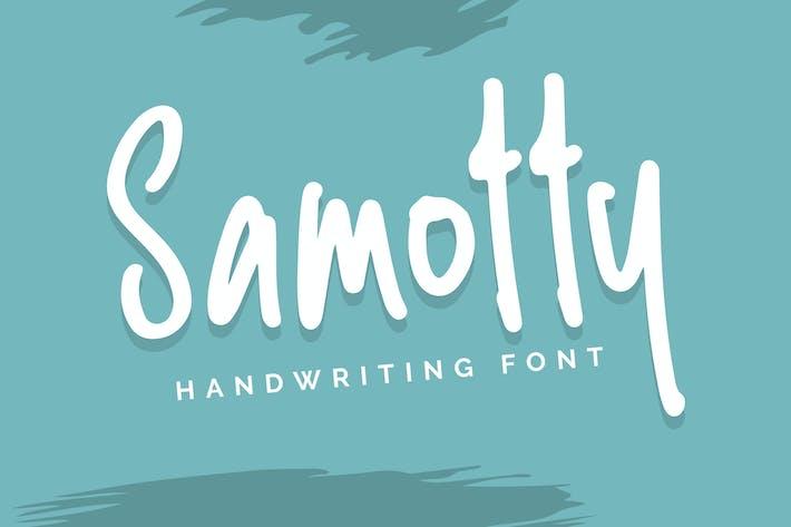 Thumbnail for Samotty - Fuente de escritura a mano