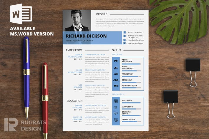 Thumbnail for Minimalist CV  Resume R15 Template