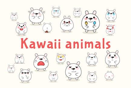Kawaii animals characters